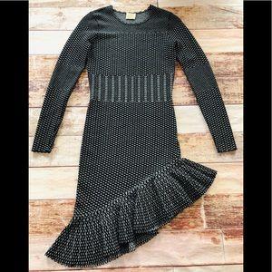 Torn by Ronny Kobo asymmetrical hem dress size s